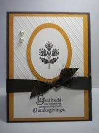 Peanuts and Peppers Papercrafting: Another Stampin' Up Day of Gratitude Card