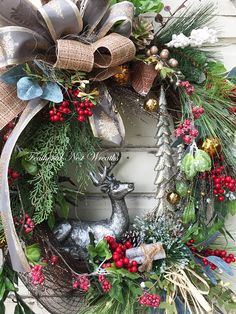 Christmas Door Wreath Christmas Door Decor Front Door