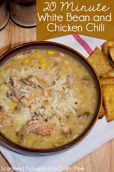 Need a hearty meal that cooks in 30 minutes or less? Try this quick 20 Minute White Bean and Chicken Chili.