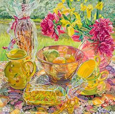 Considering the art of the painter Janet Fish, who currently has works spanning fifteen