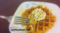 ... Waffles with Maple Whipped Cream and Pecans: Gluten Free, Grain Free