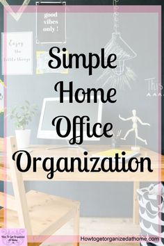 Are you looking for simple home office organization tips? These simple and easy . Are you looking for simple home office organization tips? These simple and easy tips will help you Office Organization At Work, Home Office Organization, Organizing Your Home, Office Cleaning, Organizing Tips, Bathroom Organization, Organization Ideas, Bedroom Office, Office Decor
