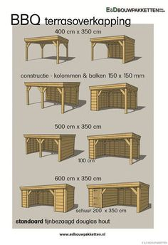 Tekening houten overkapping – Dak te repareren Drawing wooden roof - Roof to be repaired Backyard Pavilion, Patio Gazebo, Backyard Sheds, Backyard Patio Designs, Outdoor Pergola, Backyard Landscaping, Patio Ideas, Pavers Patio, Cheap Pergola