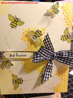 Fun Stampers Journey, card, Summer Garden, Bees, Honeycomb, ats, homemade card, stamping.