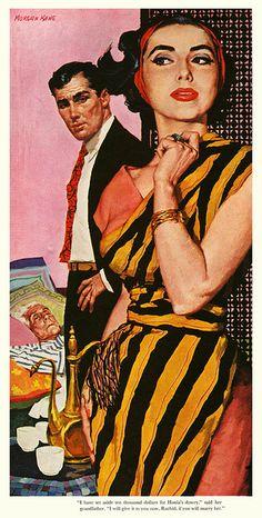 Hania's Dowry    1957; illustration by Morgan Kane.