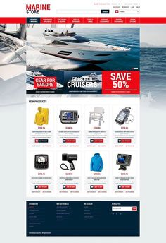 Who loved this design?   Marine Supplies Magento Theme CLICK HERE! live demo  http://cattemplate.com/template/?go=2dKI3W3
