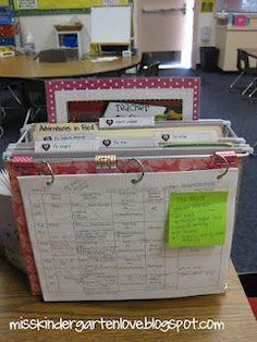 Teacher desktop organizer with weekly plan on the front. Includes tabs for: to copy, to do, to file, to send home & next week. The printable to do list is sticking up in the back.