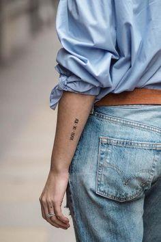 Trendy Tattoos, Mini Tattoos, Cute Tattoos, New Tattoos, Small Tattoos, Tattoos For Women, Tatoos, Tattoos Of Dates, Script Tattoos