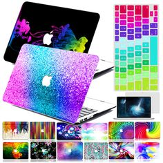 Rainbow Painting Hard Case Cover +KB+SP For Macbook Pro Air 11 13 15  Retina 12