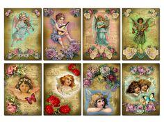 2.5 x 3.5 ACEO Digital Collage Sheet Vintage Ad por GrannyGator