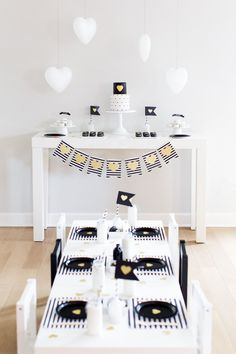 The TomKat Studio | Blog: Gorgeous Black and White Valentine's Day Party...