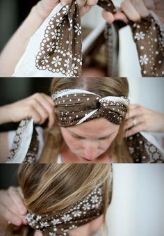 Comment se coiffer en  #headband avec un #foulard ?