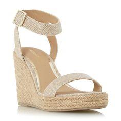 HEAD OVER HEELS LADIES KALLISTO - Two Part Espadrille Wedge Sandal - gold | Dune Shoes Online