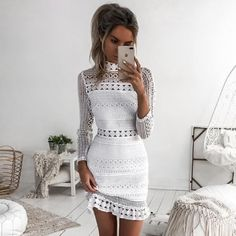 Lengthy Sleeve Attractive White Lace Get dressed offered by way of KoKo Style. Store extra merchandise from KoKo Style on Storenvy, the house of unbiased small companies in all places the sector.