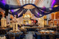 Reception Space in Chicago Museum    Photography: bobbi+mike   Read More:  http://www.insideweddings.com/weddings/multi-day-pakistani-wedding-celebration-featuring-bright-colors/796/