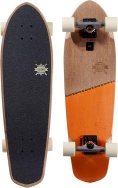 "Globe Big Blazer 32"" Cruiser Skateboard Complete - brown/orange - Free Shipping"