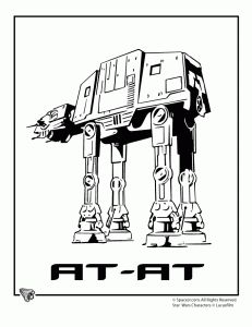 A bunch of free printable star wars coloring pages