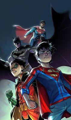 Phone wallpaper dump p2 - Imgur Dc Heroes, Comic Book Heroes, Comic Books Art, Comic Art, Book Art, Aquaman, Dc Universe, Super Sons, Batman Y Superman