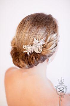 JMC - Emily Headpiece - by Justine M Couture bridal accessories Bridal Fascinator, Bridal Headpieces, Bridal Crown, Bridal Tiara, Bridesmaid Accessories, Bridal Hair Accessories, Bridal Hair Ornaments, Vintage Veils