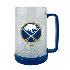 Boelter NHL 16 Ounce Freezer Mug - Buffalo Sabres. Keep In The Freezer So Your Next Beverage Is Ice Cold! This 16Oz Double-Walled, Acrylic Mug Is Insulated With Crystals, And Is Decorated With Team-Colored Handle And Base. Mug Is Bpa-Free And Highly Durable.  Boelter NHL 16 Ounce Freezer Mug - Buffalo SabresSport Theme: HockeyLeague: NHLTeam: Buffalo Sabres