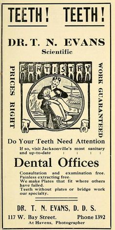 Classic Dental Advertisement -->Teeth! Teeth!