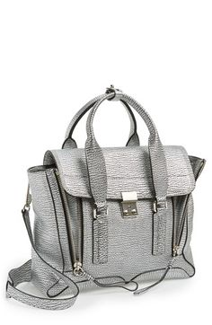 3.1 Phillip Lim 'Medium Pashli' Shark Embossed Leather Satchel available at #Nordstrom  I want her in blue!!
