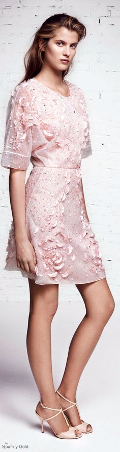 Blumarine | Sparkly Gold | the color story of pink in fashion and jewelry | lady…