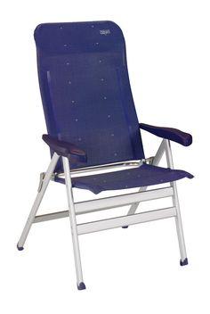 Crespo. Mod. Al-238. Butaca plegable aluminio reforzada y tejido multifibra. Folding reinforced aluminium armchair and multifiber fabric