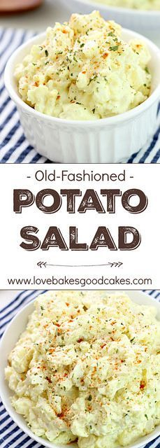 Simple is best when it comes to recipes like this Old-Fashioned Potato Salad! It tastes just like grandma made it! Simple is best when it comes to recipes like this Old-Fashioned Potato Salad! It tastes just like grandma made it! Side Dish Recipes, New Recipes, Summer Recipes, Cooking Recipes, Healthy Recipes, Potato Recipes, Recipies, Best Potato Salad Recipe, Healthy Food