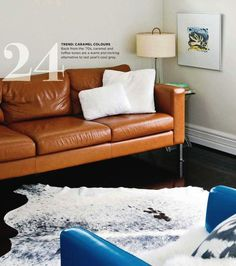 Charmant Caramel Sofa, Gray Neutral Walls   Bring In Some Blue?