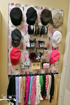 Hair accessory organizer.
