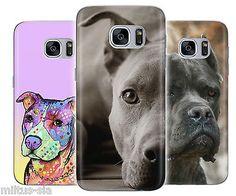 Pitbull Dog Cute Art Rubber Cover Case fits Samsung Galaxy s7 6 edge s7 J5 J7 J3