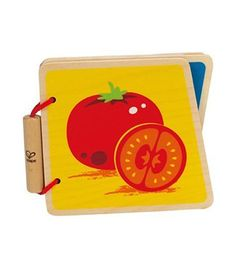 Vegetables Baby Wooden Book From Hape from The Wooden Toybox