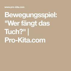 """Bewegungsspiel: """"Wer fängt das Tuch?""""   Pro-Kita.com"""