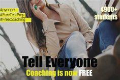 Tell everyone that Coaching is now free.   www.pyoopel.com.   #Pyoopel#FreeTestPrep #FreeCoaching