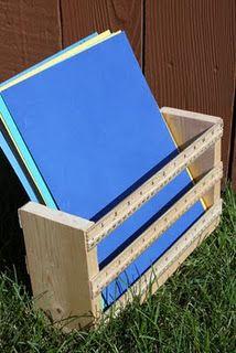 Ruler basket for teacher gifts