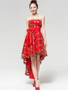 qipao | Bandeau Cheongsam / Qipao / Chinese Wedding Dress