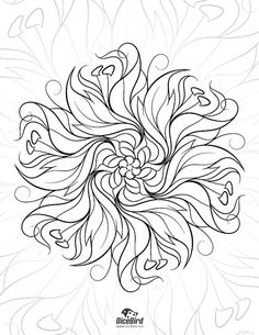 Adult coloring e-book 28 designs flowers by DiceBirdColoringPage