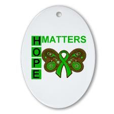 Hope Matters Organ Transplant Ornament (Oval) - Not a huge butterfly person, but I like the butterfly with the ribbon.