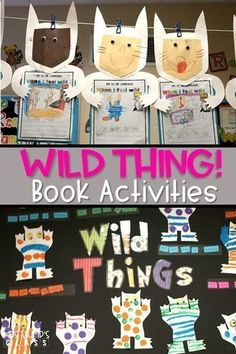 "This unit is fantastic for Maurice Sendak's book Where the Wild Things Are. Writing worksheet and craft included. Perfect for kindergarten or first grade! ""Wild things are happening in Kindergarten! Reading Activities, Kindergarten Activities, Activities For Kids, Guided Reading, Reading Strategies, Sequencing Activities, Preschool Lessons, Close Reading, Reading Comprehension"