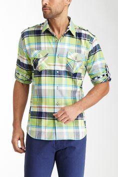 Jared Lang Long Sleeve Front Pocket Shirt on HauteLook