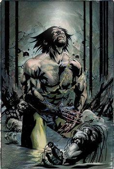 Published D/F Wolverine Poster by Jae Lee