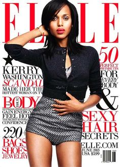 Kerry Washington In Marc Jacobs For June Cover Of ELLE Magazine