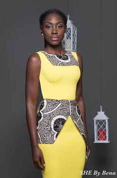"""Ghanaian fashion label, SHE by Bena presents look book collection; According to the brand, """"The collection is cut from the true original wax African Inspired Fashion, African Print Fashion, Africa Fashion, African Print Dresses, African Fashion Dresses, African Dress, Ankara Fashion, African Prints, African Attire"""