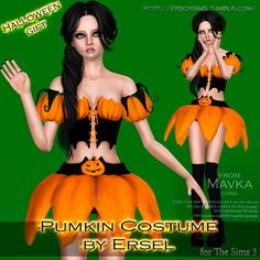 Pumkin Costume by Ersel    - Sims 3 Downloads CC Caboodle