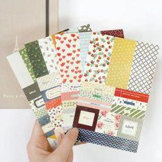 4packs/lot  Korea very romantic floral prints designs decoration paper / pvc sticker / Decorative Label / Multifunction GT082 #Affiliate