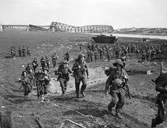 On Nov. 9, 1944, the 2nd Canadian Corps occupied the Nijmegen salient bridgehead in Holland and turned it into a winter base. Then on Feb. 8, 1945, following a huge barrage - operation Ve