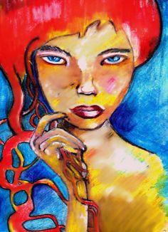 Portrait in ink