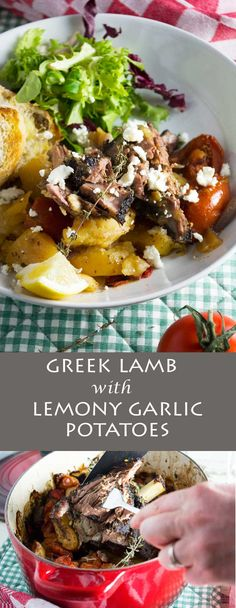 Greek lamb with lemony garlic potatoes (lamb kleftiko). Perfect for low maintenance (but impressive!) entertaining!