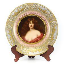 Royal Vienna Hand painted Portrait Cabinet Plate, signed R. Werlich C1890